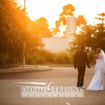 sunset wedding photograph